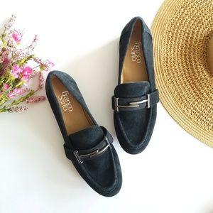 Franco Sarto | Black Suede Loafers Size 7